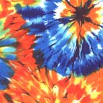 Tie Dye-licious Rainbow Canopy, Fits Most Bed Sizes - Bed Canopy
