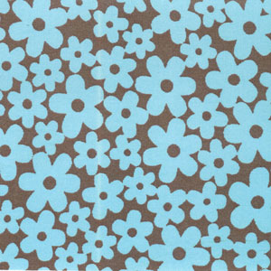 Blueberry Cordial Flowers Fabric