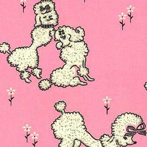 Deco Poodles Waverly Fabric