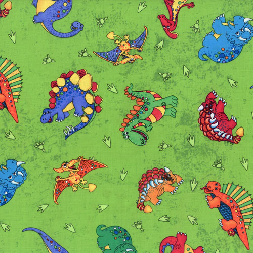 Dinosaur lime fabric for Dinosaur fabric
