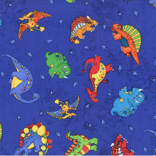 Dinosaurs Royal Fabric