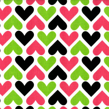 Fancy Hearts Fabric