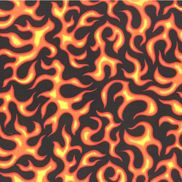 Flames Fabric