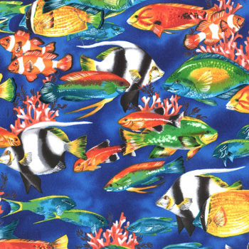 Pacific Reef Tropical Fish Fabric