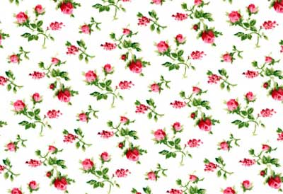 Small Pink Roses Fabric