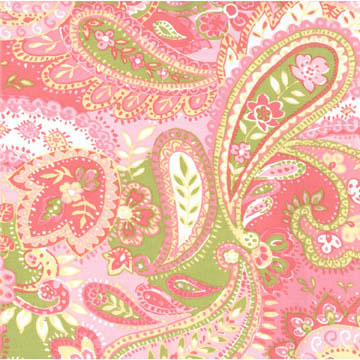 Tickled Pink Paisley Fabric
