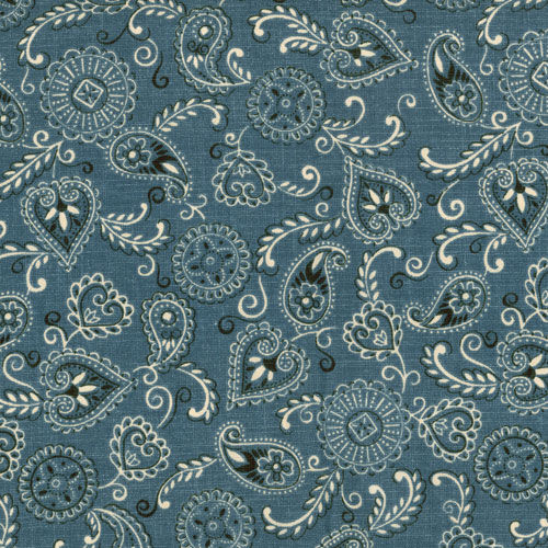 Wild West Blue Bandana Fabric