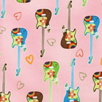 Be Bop Pink Guitars Bedding & Accessories