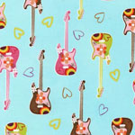 Be Bop Turquoise Guitars Bedding & Accessories