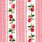 Pink Roses Stripe Bedding & Accessories