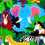 Rainbow Jungle Bedding & Accessories
