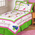 Team Spirit Girls Cheerleading Themed Room Decor Bedding Quilts