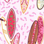 Surfs Up Pink Girls Surfing Bedding and Accessories