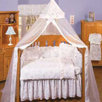 Isabella Blue Crib Bedding Collection & Accessories