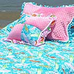 Surf City Turquoise Surf Bedding