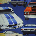 Muscle Cars Blue Bedding and Accessories