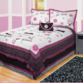It's A Girl Thing 4-piece Reversible Quilt Set