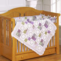 Morning Glory Crib 4 Piece Quilt Set