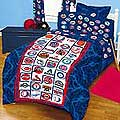 MLB Bases Loaded Baseball Bedding & Accessories