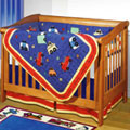 My L'il Cars Crib Quilt Set