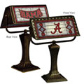 NCAA Art Glass Banker's Lamps