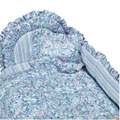 Posies Blue Crib Bedding, Canopies & Accessories