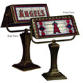 MLB Art Glass Banker's Lamp
