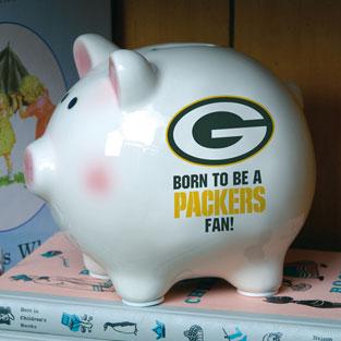 Green Bay Packers Nfl Ceramic Piggy Bank