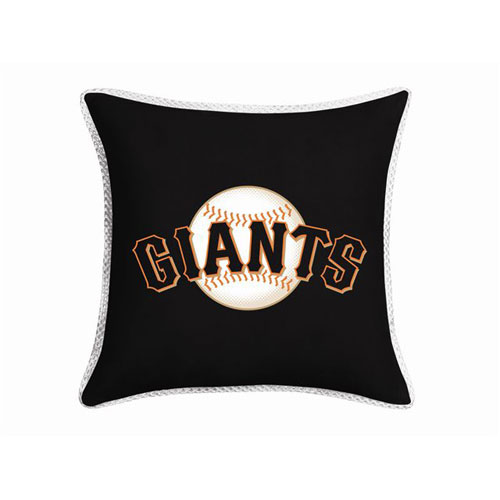 San francisco giants mlb microsuede 18 toss pillow - Sf giants wallpaper border ...