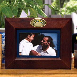 San Diego Chargers Nfl 8 Quot X 10 Quot Brown Horizontal Picture Frame