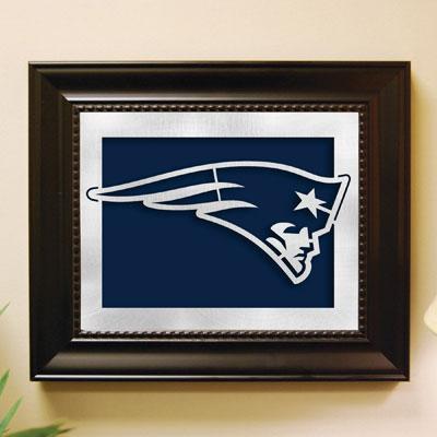 New England Patriots Nfl Laser Cut Framed Logo Wall Art
