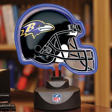 Baltimore Ravens Nfl Neon Helmet Table Lamp