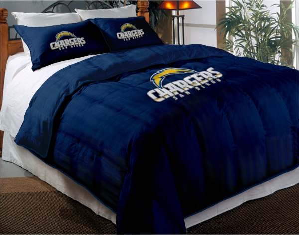 San Diego Chargers Nfl Twin Chenille Embroidered Comforter