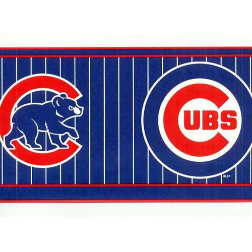 Chicago Cubs Mlb Wall Border