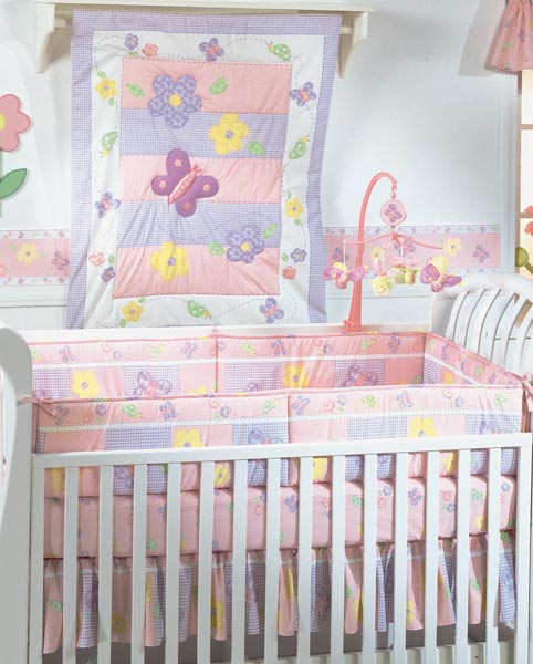 Butterfly Kisses Crib 3 Piece Bedding Set