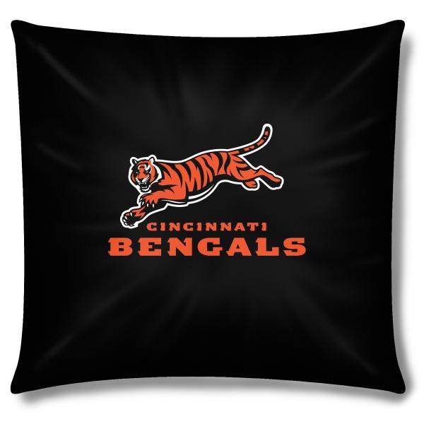 Cincinnati bengals nfl 18 toss pillow for Bengals bedroom ideas