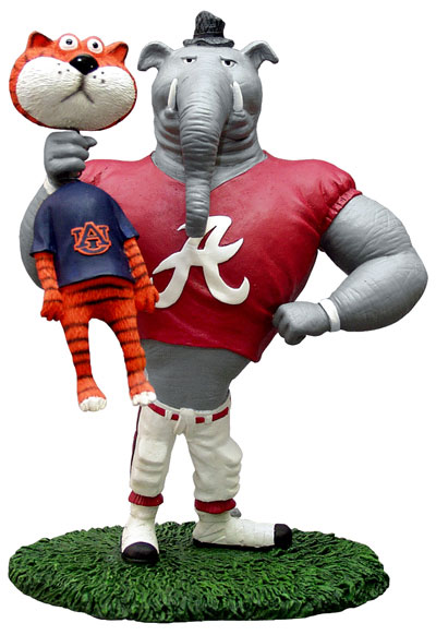Alabama Crimson Tide Ncaa College Rivalry Mascot Figurine
