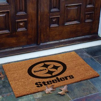Pittsburgh Steelers Nfl Rectangular Outdoor Flocked Door Mat