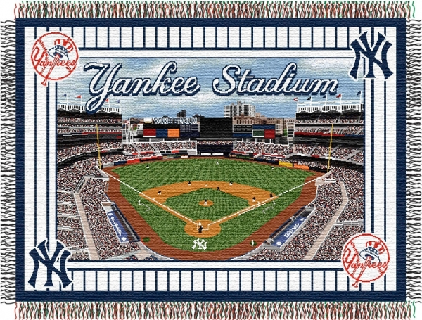 New York Yankees Mlb Quot Stadium Quot 48 Quot X 60 Quot Tapestry Throw