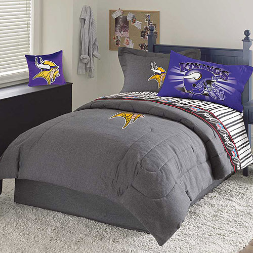 Minnesota Vikings Nfl Team Denim Queen Comforter Sheet Set