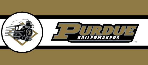 Purdue Boilermakers 7 Tall Wallpaper Border