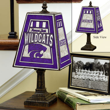 Kansas State Wildcats Ncaa College Art Glass Table Lamp