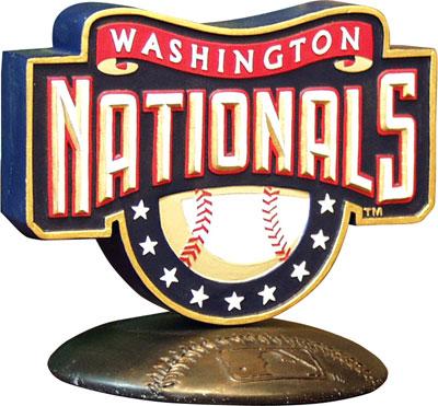 Washington Nationals Mlb Logo Figurine