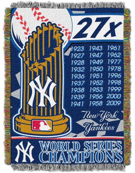 New York Yankees Mlb Quot Commemorative Quot 48 Quot X 60 Quot Tapestry Throw