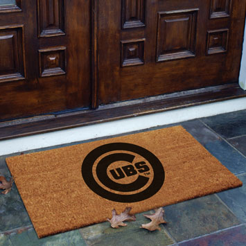 Chicago Cubs Mlb Rectangular Outdoor Flocked Door Mat