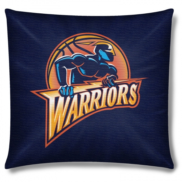 "Warriors Come Out And Play Logo: Golden State Warriors NBA 18"" X 18"" Cotton Duck Toss Pillow"