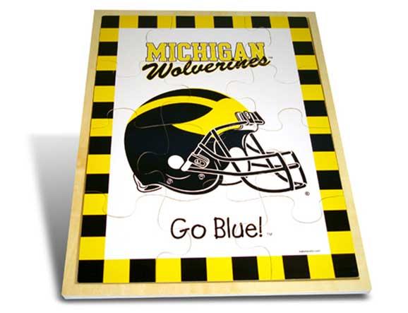 Michigan Wolverines Wooden Puzzle