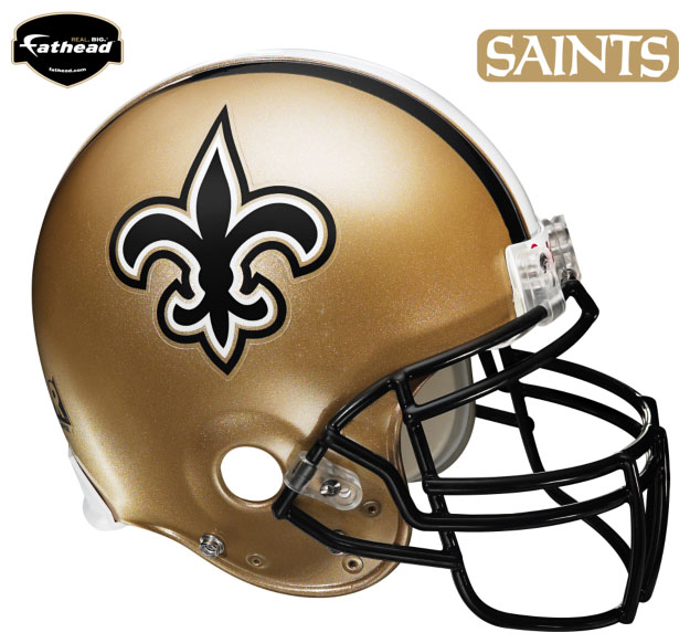 New Orleans Saints Helmet Fathead NFL Wall Graphic