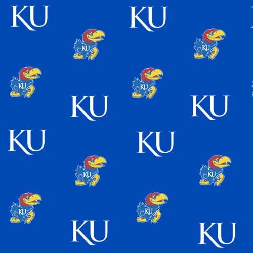 Kansas Jayhawks Fitted Crib Sheet Blue