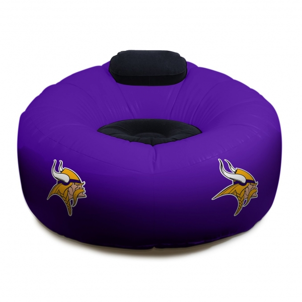 sc 1 st  FamilyBedding.com & Minnesota Vikings NFL Vinyl Inflatable Chair w/ faux suede cushions